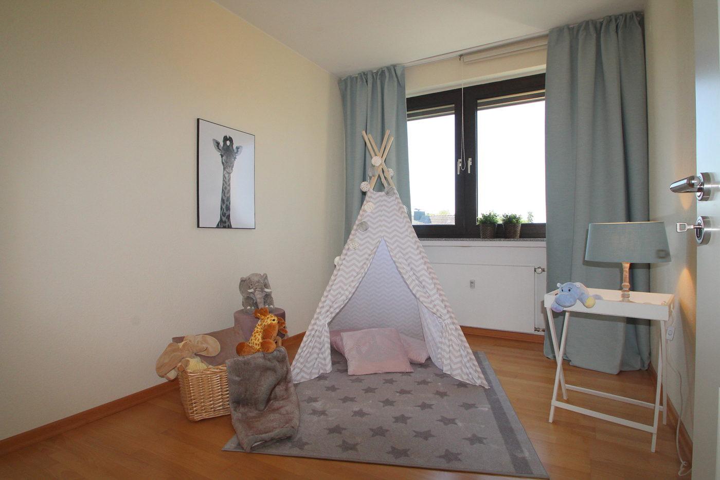 Kinderzimmer nach dem Homestaging durch Nicole Biernath von Blickfang Homestaging in Soest