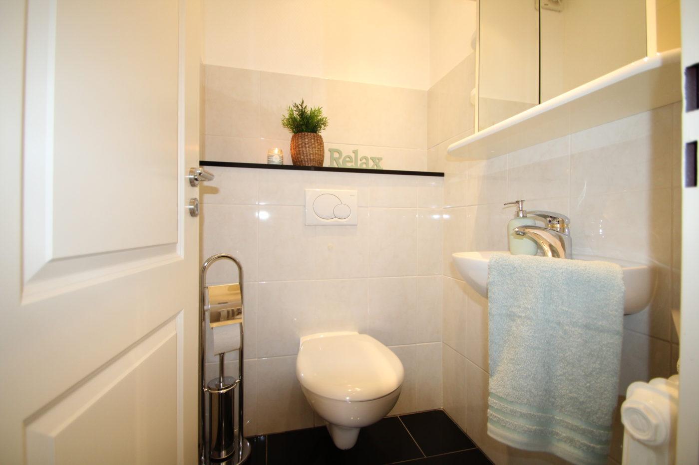 Gäste-WC nach dem Homestaging durch Nicole Biernath von Blickfang Homestaging in Soest