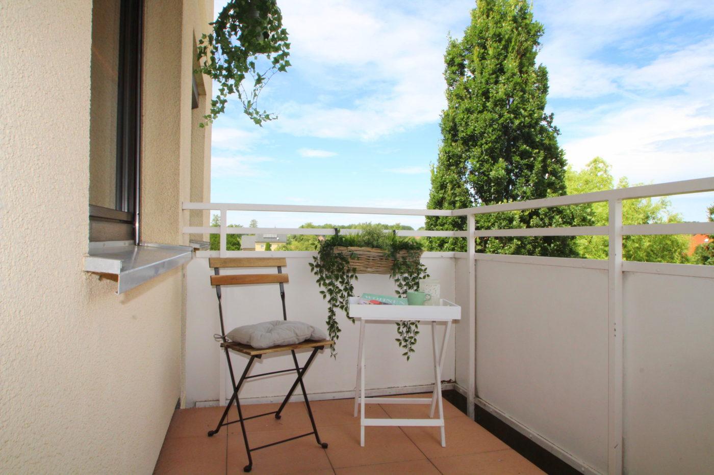 Balkon nach dem Homestaging durch Nicole Biernath von Blickfang Homestaging in Soest