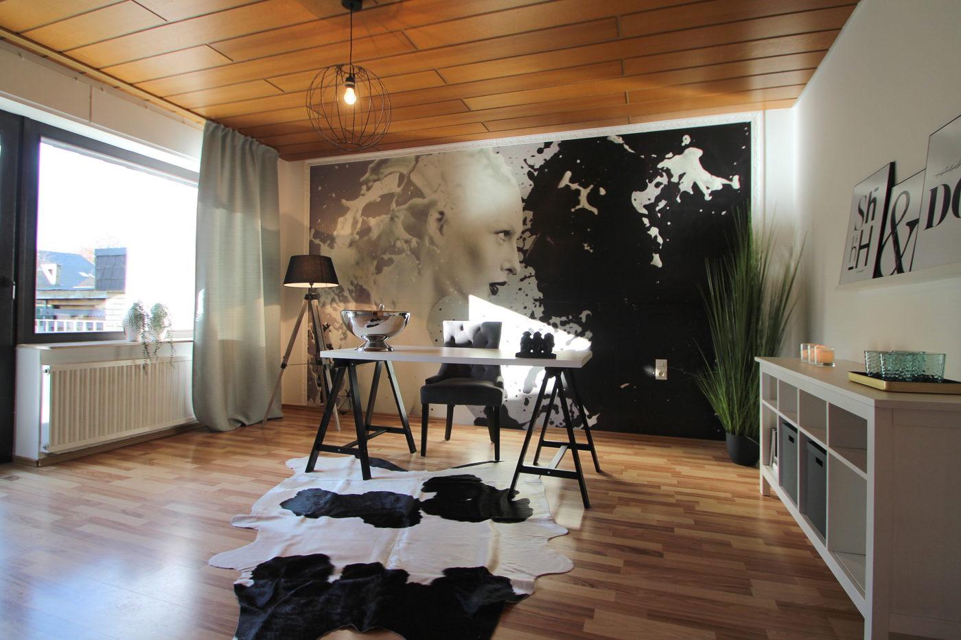 Arbeitszimmer nach dem Homestaging von Nicole Biernath von Blickfang Homestaging in Soest