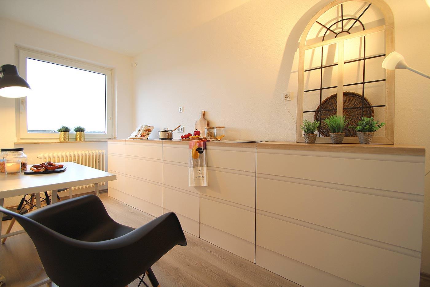 Küche nach dem Homestaging durch Nicole Biernath von Blickfang Homestaging in Soest