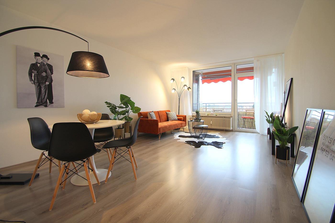Wohnzimmer nach dem Homestaging durch Nicole Biernath von Blickfang Homestaging in Soest