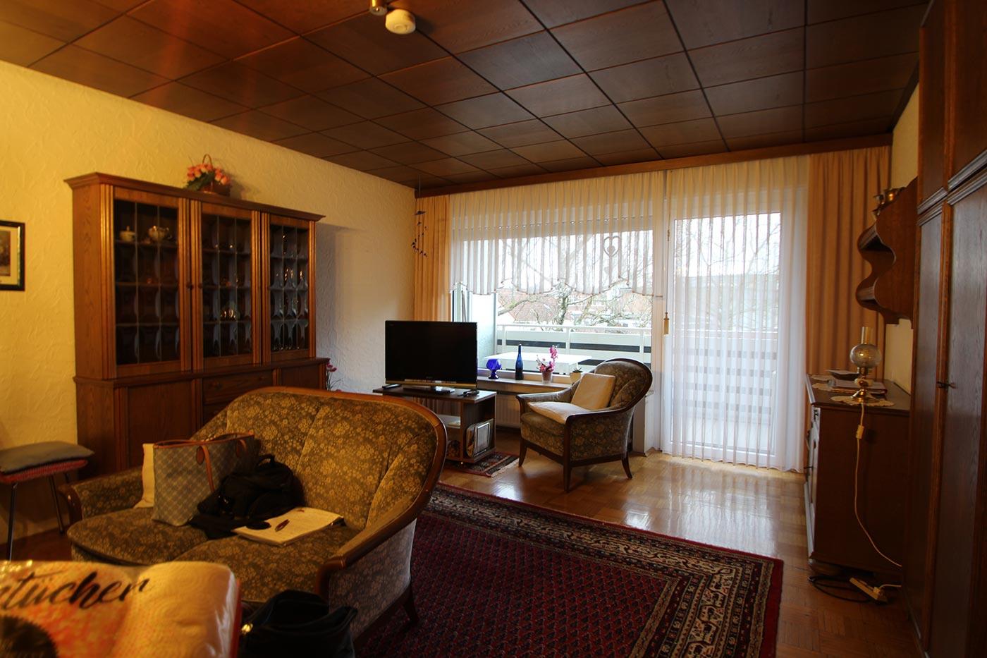 Vorher Foto vom Wohnzimmer. Vor dem Homestaging durch Blickfang Homestaging in Soest