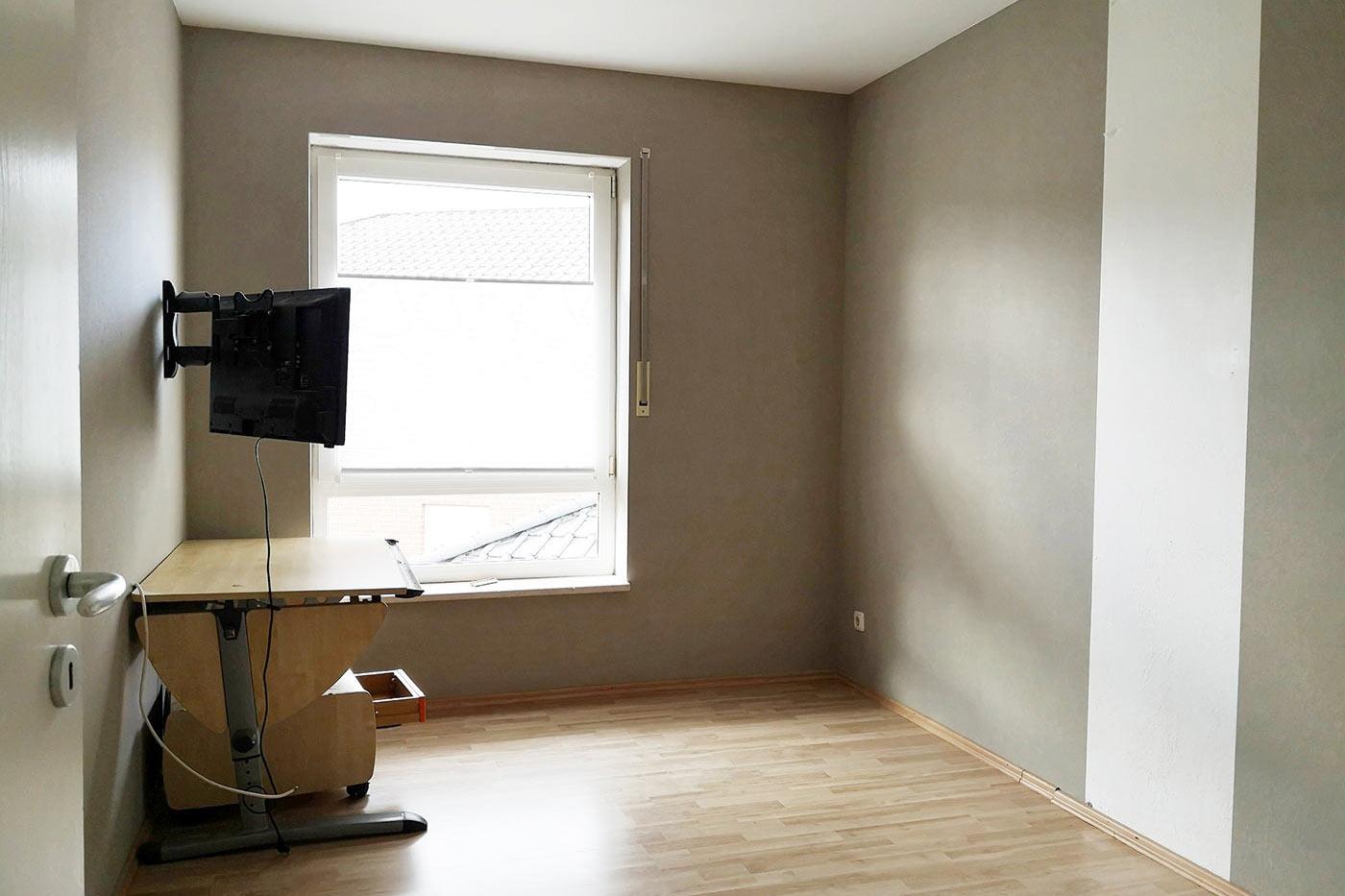 Vorher Foto vom Arbeitszimmer. Arbeitszimmer vor dem Homestaging durch Blickfang Homestaging in Soest