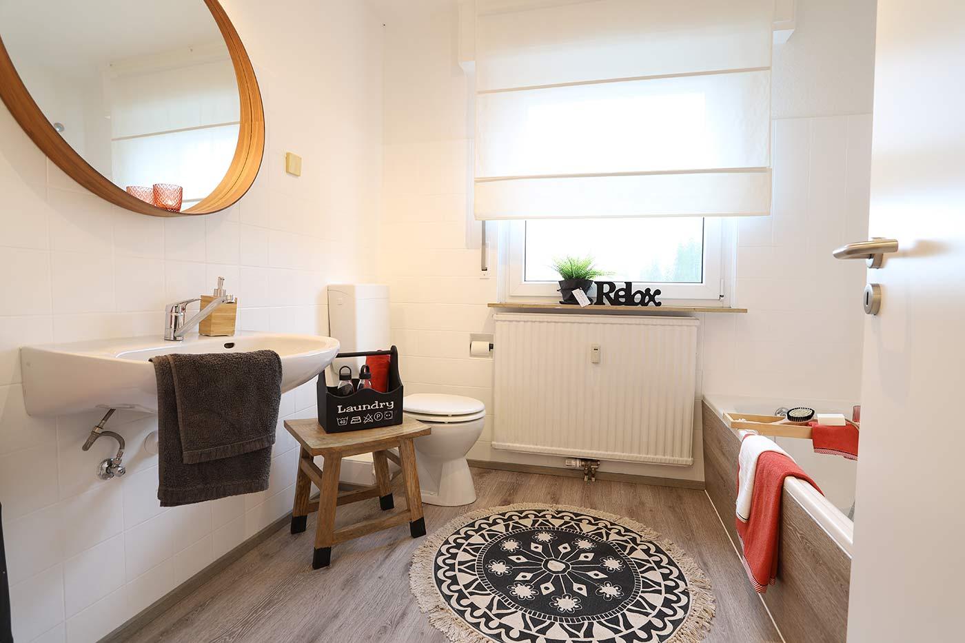 Homstaging für das Bad durch Blickfang Homestaging