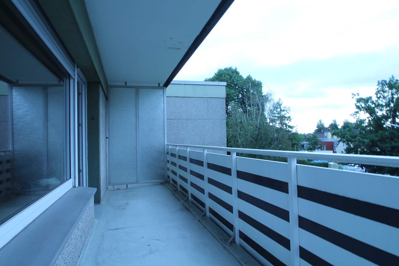 Vorher-Foto vom Balkon | Blickfang Homestaging in Soest