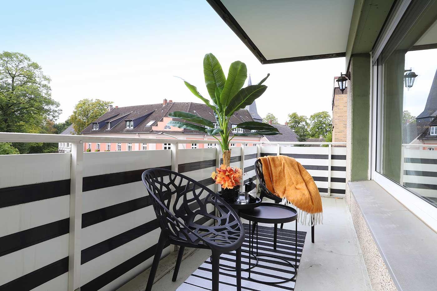 Homestaging auf dem Balkon durch Blickfang Homestaging in Soest