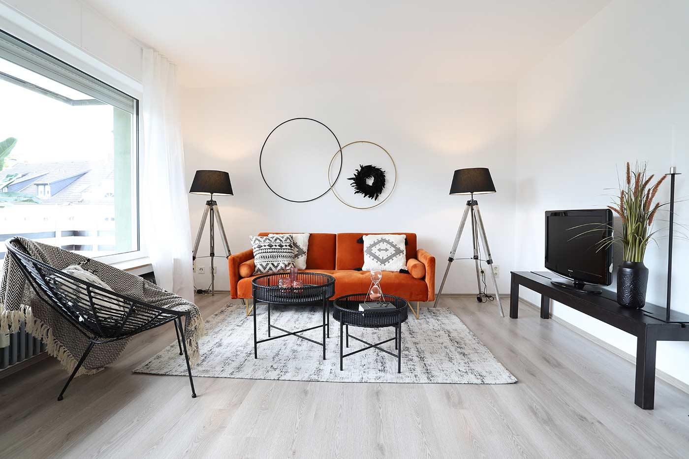 Homestaging im Wohnzimmer durch Blickfang Homestaging in Soest