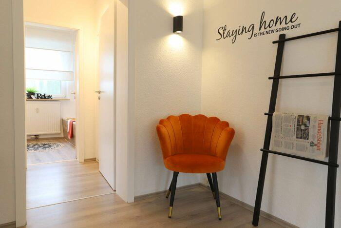 Fix und Flip in Hamm, Homestaging im Flur einer Eigentumswohnung durch Blickfang Homestaging aus Soest