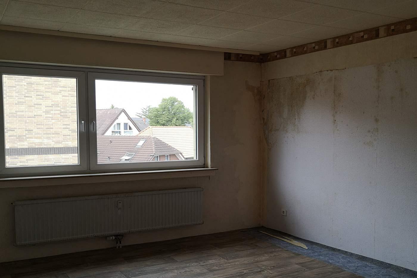 Vorher-Foto vom Schlafzimmer | Blickfang Homestaging in Soest
