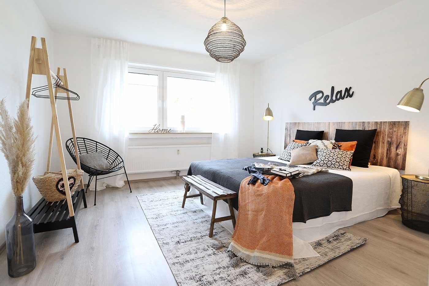 Homestaging im Schlafzimmer durch Blickfang Homestaging in Soest